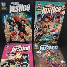 Fumetti: LOTE 4 CÓMICS YOUNG JUSTICE. RAREZAS NO INVITADAS, VIEJA JUSTICIA, LAS CHICAS CON LAS CHICAS, LOS A. Lote 142715253