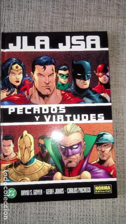JLA JSA PECADOS Y VIRTUDES NORMA EDITORIAL (Tebeos y Comics - Norma - Comic USA)