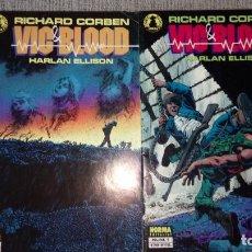 Cómics: VIC & BLOOD SERIE COMPLETA RICHARD CORBEN NORMA EDITORIAL. Lote 131749830