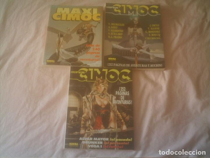 SUPER CIMOC RETAPADOS Nº 2 Y 3 Y MAXI CIMOC Nº 1 (Tebeos y Comics - Norma - Cimoc)