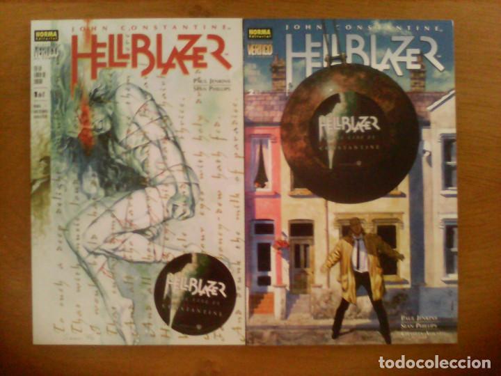 HELLBLAZER. EN LA LÍNEA DE FUEGO. COMPLETA. 2 PRESTIGIOS. (Tebeos y Comics - Norma - Comic USA)