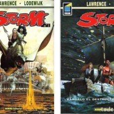 Cómics: STORM (DE LAWRENCE & LODEWIJK) :EL PLANETA VIVIENTE + VÁNDALO EL DESTRUCTOR . Lote 136130934