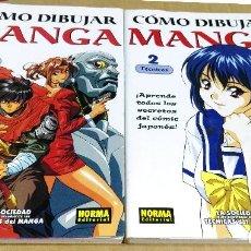 Cómics: COMO DIBUJAR MANGA. NORMA EDITORIAL, BARCELONA, 2002. NÚMEROS 1 Y 2. Lote 136217114