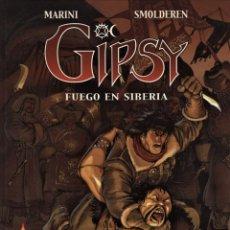 Cómics: GIPSY-2: FUEGO EN SIBERIA (NORMA, 2000) DE MARINI Y SMOLDEREN. TAPA DURA.. Lote 139911202