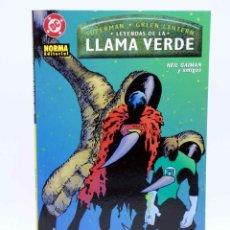 Cómics: SUPERMAN / GREEN LANTERN. LEYENDAS DE LA LLAMA VERDE (NEIL GAIMAN Y AMIGOS) NORMA, 2002. OFRT. Lote 147568361