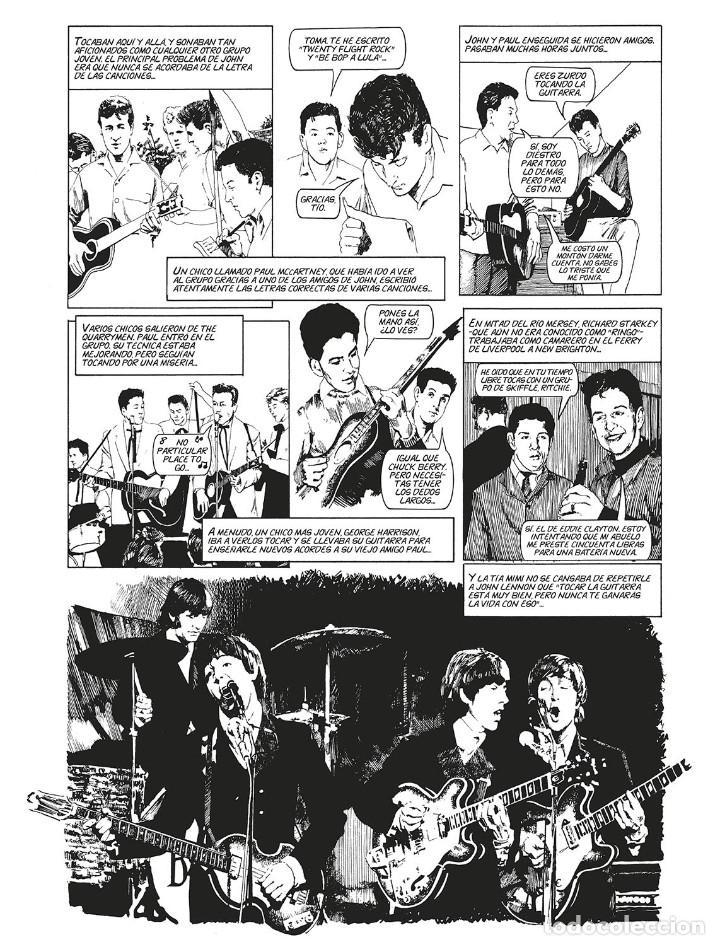 Cómics: Cómics. LA HISTORIA DE LOS BEATLES - Angus Allan/Arthur Ranson (Cartoné) - Foto 2 - 142473942