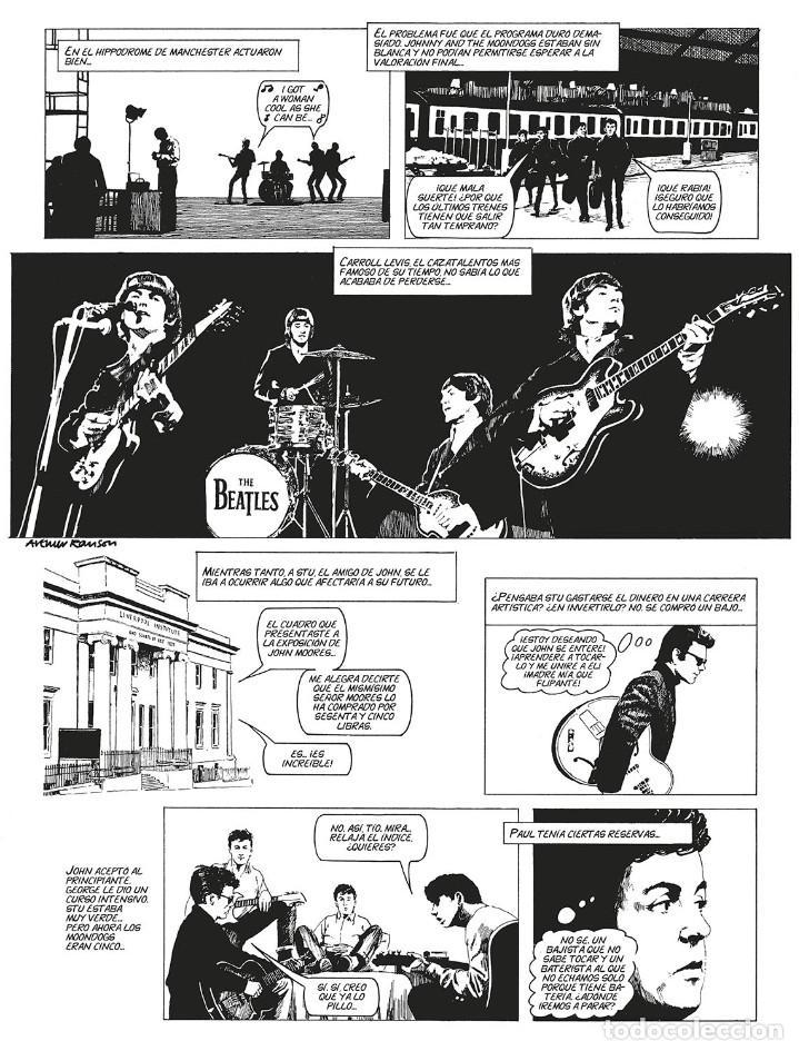 Cómics: Cómics. LA HISTORIA DE LOS BEATLES - Angus Allan/Arthur Ranson (Cartoné) - Foto 4 - 142473942