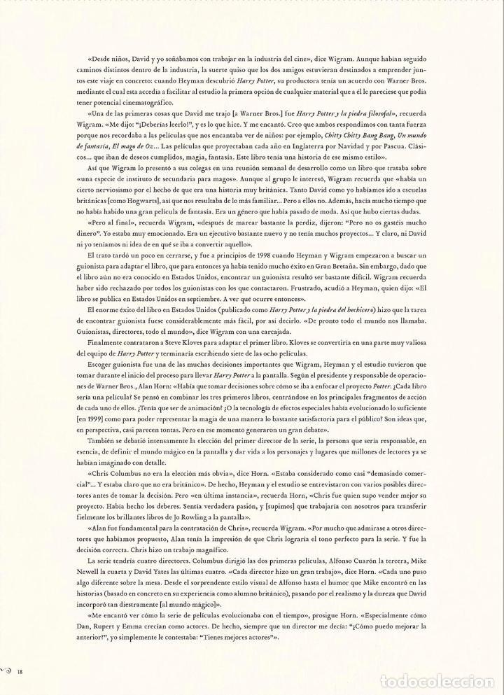 Cómics: Cómics. HARRY POTTER. DE LA PÁGINA A LA PANTALLA. EL VIAJE CINEMATOGRÁFICO COMPLETO - McC (Cartoné) - Foto 6 - 140942130