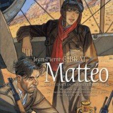 Cómics: CÓMICS. MATTEO. CUARTA ÉPOCA (AGOSTO-SEPTIEMBRE 1936) - JEAN-PIERRE GIBRAT (CARTONÉ). Lote 289935333