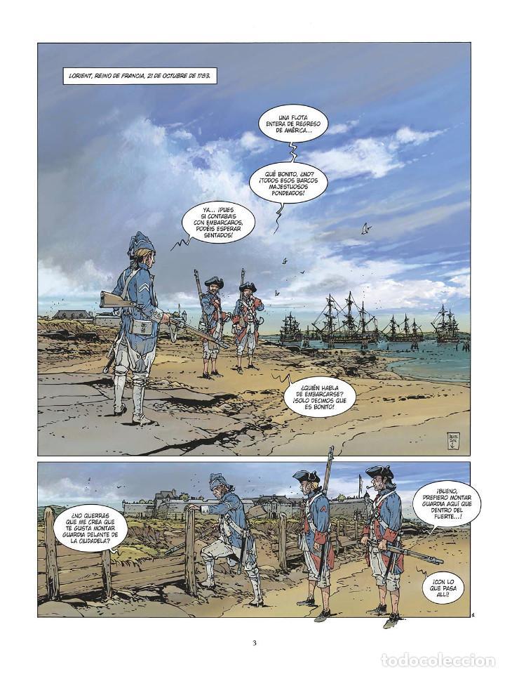 Cómics: Cómics. LAS GRANDES BATALLAS NAVALES 3. CHESAPEAKE - Jean-Ives Delitte (Cartoné) - Foto 2 - 142821358