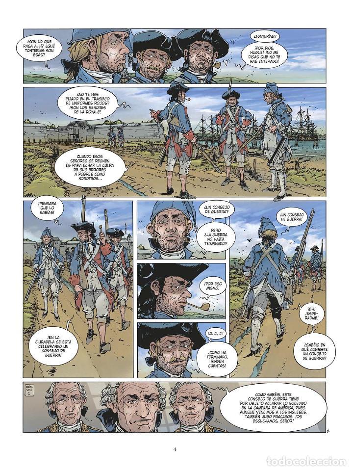 Cómics: Cómics. LAS GRANDES BATALLAS NAVALES 3. CHESAPEAKE - Jean-Ives Delitte (Cartoné) - Foto 3 - 142821358