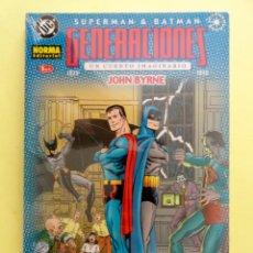 Cómics: SUPERMAN & BATMAN: GENERACIONES. UN CUENTO IMAGINARIO. NORMA. COLECCIÓN COMPLETA 4 NÚMEROS. 2002. Lote 142943054