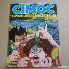 Cómics: CIMOC ESPECIAL 8. JUEGOS PELIGROSOS 8 HISTORIAS COMPLETAS.. Lote 143539454