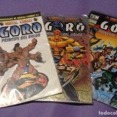 Cómics: MORTAL KOMBAT. GORO, PRINCIPE DEL DOLOR SERIE LIMITADA DE 3 COMICS. NORMA 1995. Lote 144062754
