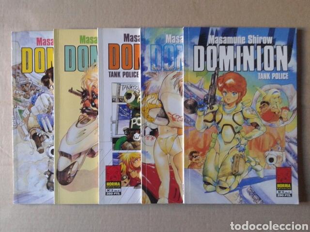DOMINION TANK POLICE COLECCIÓN COMPLETA, NÚMEROS 1-2-3-4-5 (NORMA, 1994). POR MASAMUNE SHIROW (Tebeos y Comics - Norma - Otros)