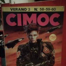 Cómics: CIMOC RETAPADO VERANO 3 CONTIENE LOS NUMEROS 58, 59 Y 60. Lote 146418382