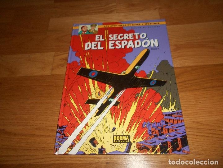 LAS AVENTURAS DE BLAKE Y MORTIMER 9 EL SECRETO DEL ESPADON NORMA TOMO 1 PERFECTO (Tebeos y Comics - Norma - Comic Europeo)