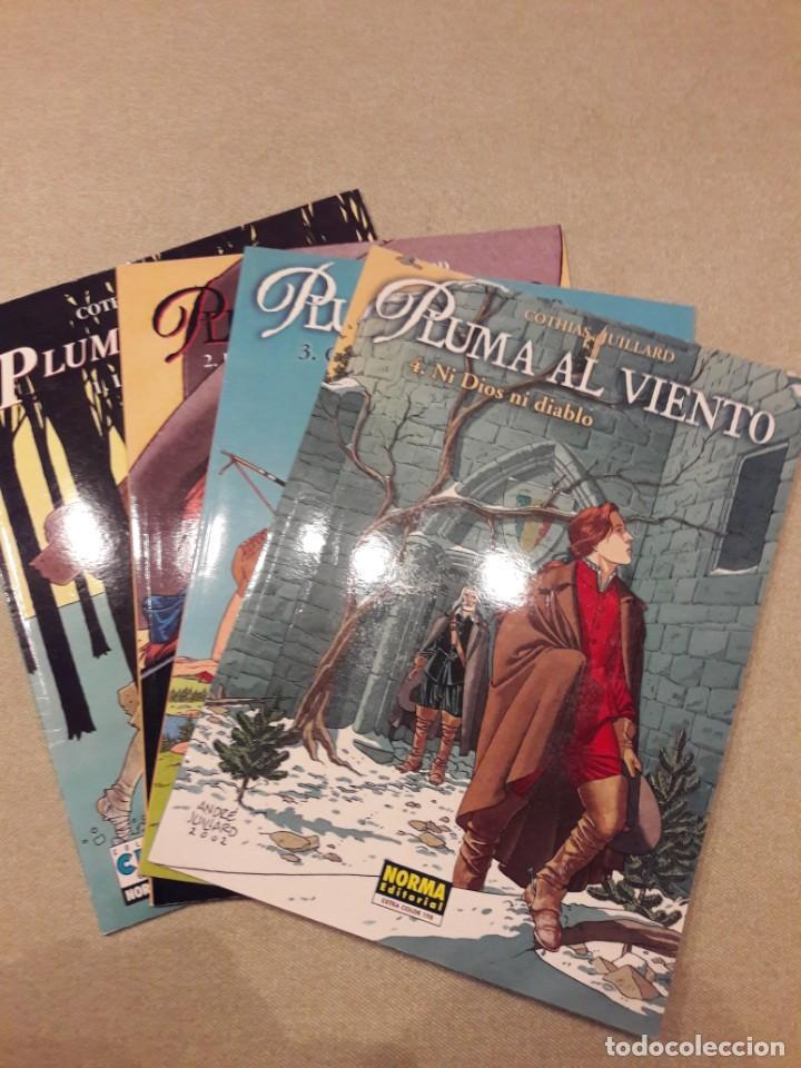 PLUMA AL VIENTO, COTHIAS / JUILLARD, COMPLETA (4 TOMOS) (Tebeos y Comics - Norma - Comic Europeo)