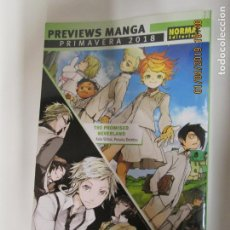 Cómics: PREVIEWS MANGA PRIMAVERA 2018- NORMA EDITORIAL THE PROMISED NEVERLAND , BUNGO STRAY DOGS . Lote 147922594