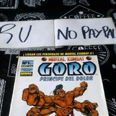 Cómics: GORO 1 PRÍNCIPE DEL DOLOR NORMA EDITORIAL. Lote 149055406