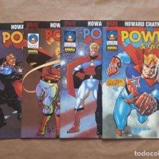 Cómics: POWER & GLORY 1 A 4 COMPLETA - HOWARD CHAYKIN - BRAVURA - JMV. Lote 152443514