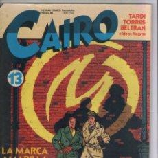 Cómics: CAIRO-AÑO 1982-NORMA-B/N-COLOR-FORMATO GRAPA-Nº 13. Lote 155084062