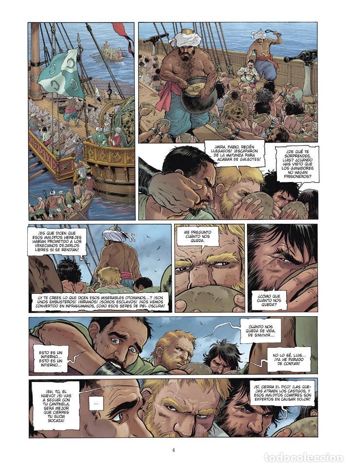 Cómics: Cómics. LAS GRANDES BATALLAS NAVALES 4. LEPANTO - Jean-Ives Delitte/Federico Nardo (Cartoné) - Foto 3 - 156505682