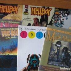 Cómics: RICHARD CORBEN - LOTE DE COMIC - HELLBOY, MYTH MAKER, SOLO, HELLBLAZER, VIC & BLOOD. Lote 156587614