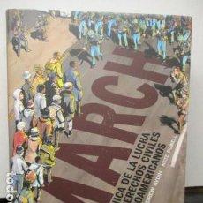 Cómics: MARCH UNA CRONICA DE LA LUCHA POR LOS DERECHOS CIVILES DE LOS AFROAMERICANOS - NORMA - NUEVO. Lote 158946722