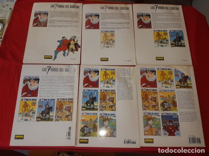 Cómics: COLECCION CASI COMPLETA. LAS 7 VIDAS DEL GAVILAN.. 6 NUMEROS DE 7. NORMA. C-32 - Foto 2 - 159092878