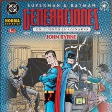 Cómics: COMIC N°1/4 SUPERMAN Y BATMAN GENERACIONES 1939/45 CUENTO IMAGINARIO 1999. Lote 160670845
