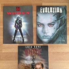 Cómics: LOTE 3 TOMOS ILUSTRACION LUIS ROYO - EVOLUTION / MALEFIC / WOMEN - MUY BUEN ESTADO - GCH. Lote 162676166