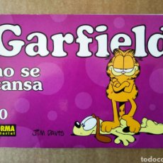 Cómics: GARFIELD N°40: NO SE CANSA (NORMA EDITORIAL, 1999). POR JIM DAVIS. FORMATO APAISADO, INTERIOR EN B/N. Lote 162760654