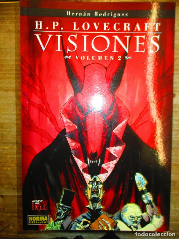 H.P. LOVECRAFT - VISIONES 2 - HERNAN RODRIGUEZ - NORMA EDITORIAL -MADE IN HELL (Tebeos y Comics - Norma - Comic USA)