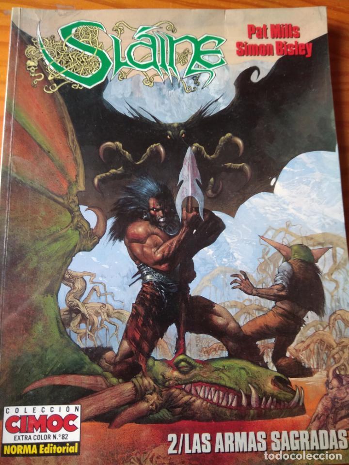SLAINE, LAS ARMAS SAGRADAS- PAT MILLS/ SIMON BISLEY- SLAINE Nº 2 COLECCION CIMOC EXTRA COLOR Nº 82 (Tebeos y Comics - Norma - Comic USA)