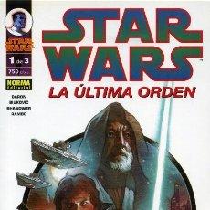Cómics: STAR WARS. LA ULTIMA ORDEN. SERIE COMPLETA: 3 TOMOS. NORMA. Lote 245769380