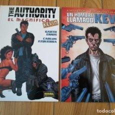 Cómics: THE AUTHORITY: EL MAGNÍFICO KEVIN + UN HOMBRE LLAMADO KEV - PERFECTO ESTADO. Lote 166552122
