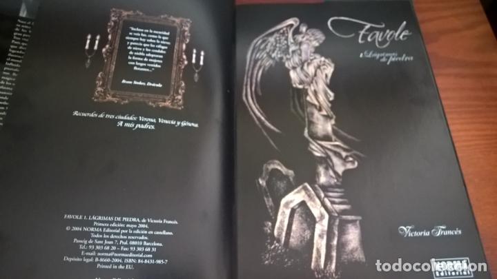 Cómics: FAVOLE 1 LAGRIMAS DE PIEDRA. VICTORIA FRANCES. NORMA PRIMERA EDICION 2004. Con dedicatoria de autora - Foto 9 - 167028952
