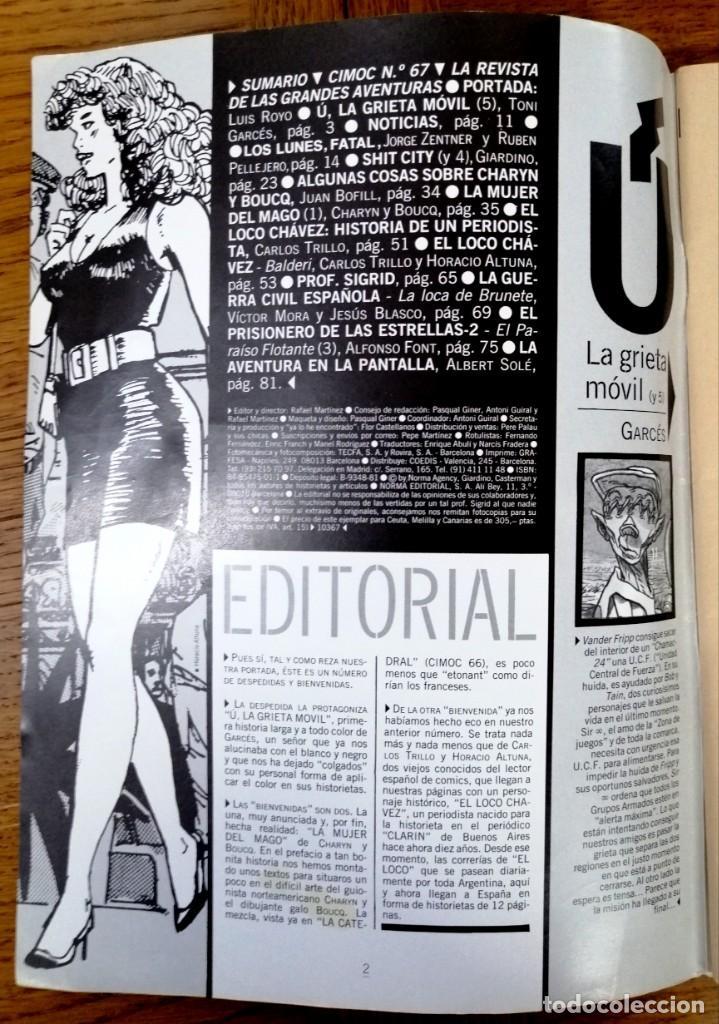Cómics: CIMOC N 67.REVISTA DE LAS GRANDES AVENTURAS - Foto 2 - 167868800