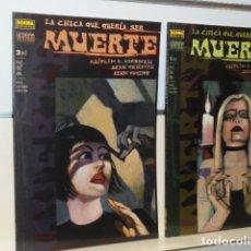 Cómics: LA CHICA QUE QUERIA SER MUERTE COMPLETA 2 TOMOS VERTIGO - NORMA - OFERTA. Lote 179233206