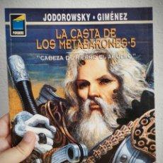 Cómics: LA CASTA DE LOS METABARONES Nº 5 - CABEZA DE HIERRO EL ABUELO - A. JODOROWSKY.. Lote 168971908