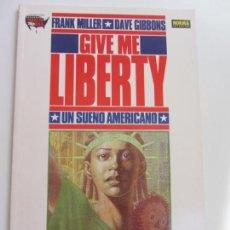 Cómics: GIVE ME LIBERTY - 1 JUNGLAS - FRANK MILLER - DAVE GIBBONS - NORMA 1990 BUEN ESTADO. Lote 169068208