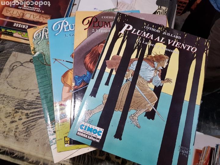 PLUMA AL VIENTO COLECCION COMPLETA,4 ÁLBUMES POR COTHIAS JUILLARD EDITORIAL NORMA (Tebeos y Comics - Norma - Comic Europeo)