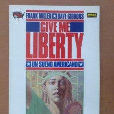 Cómics: GIVE ME LIBERTY UN SUEÑO AMERICANO. Nº 1 JUNGLAS. FRANK MILLER Y DAVE GIBBONS. 1990. Lote 171328717