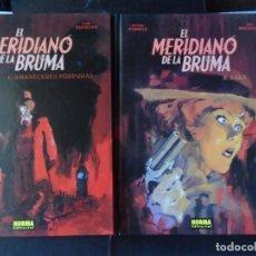 Cómics: EL MERIDIANO DE LA BRUMA COMPLETA 2 TOMOS - NORMA EDITORIAL TAPA DURA . Lote 171459400