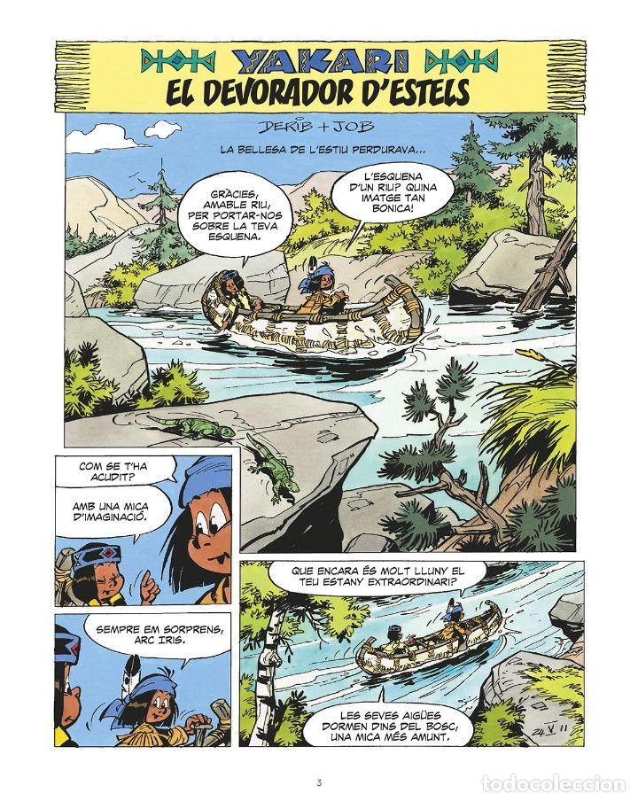 Cómics: Cómics. YAKARI 19. EL DEVORADOR D'ESTELS. L'ASSASSINA DEL MAR - Derib/Job (Cartoné) - Foto 2 - 235818265