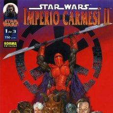 Cómics: STAR WARS. IMPERIO CARMESI II. SERIE COMPLETA: 3 TOMOS. NORMA. Lote 244400140