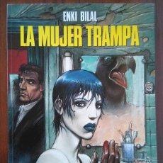 Cómics: PACK COMICS ENKI BILAL COLECCION CIMOC MUJER TRAMPA, FRÍO ECUADOR, FERIA INMORTALES, DOBLE DIMENSION. Lote 172950248