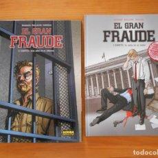Cómics: EL GRAN FRAUDE COMPLETA - 2 TOMOS TAPA DURA - BOISSERIE, GUILLAUME, JUSZEZAK - NORMA (U). Lote 175129345