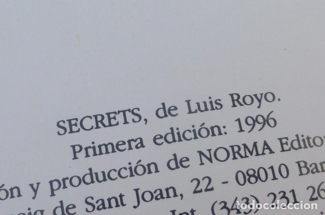 Cómics: Comic Secrets de Luis Royo. 1ª edicion 1996..Norma editores. - Foto 4 - 175977818